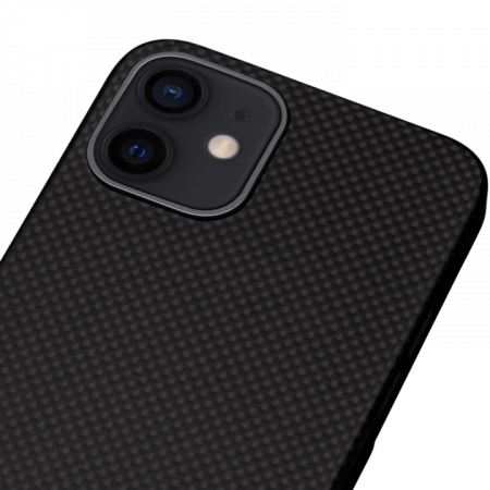 "Чехол Pitaka MagEZ Case для iPhone 12 mini 5.4"", черно-серый (шахматное плетение), кевлар (арамид)"