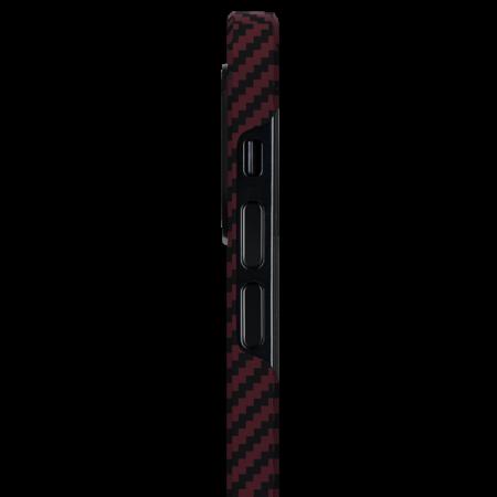 "Чехол Pitaka MagEZ Case для iPhone 12 mini 5.4"", черно-красный, кевлар (арамид)"
