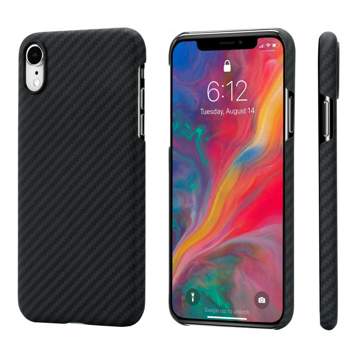 Чехол PITAKA MagEZ Case для iPhone Xr черно-серый в полоску , кевлар (арамид)