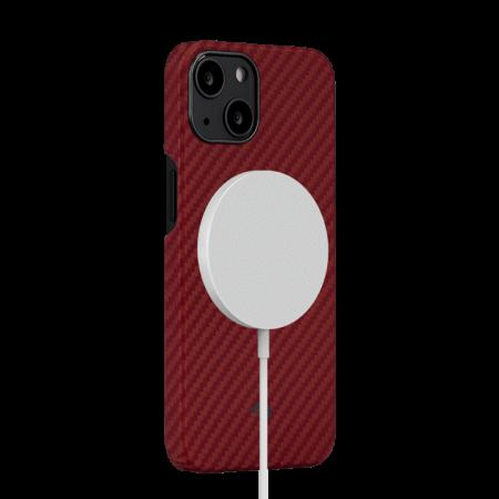 "Чехол Pitaka MagEZ Case 2 для iPhone 13 mini 5.4"", красный, кевлар (арамид)"