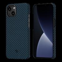 """Чехол Pitaka MagEZ Case 2 для iPhone 13 6.1"""", черно-синий, кевлар (арамид)"""