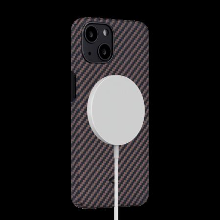 "Чехол Pitaka MagEZ Case 2 для iPhone 13 6.1"", черно-коричневый, кевлар (арамид)"