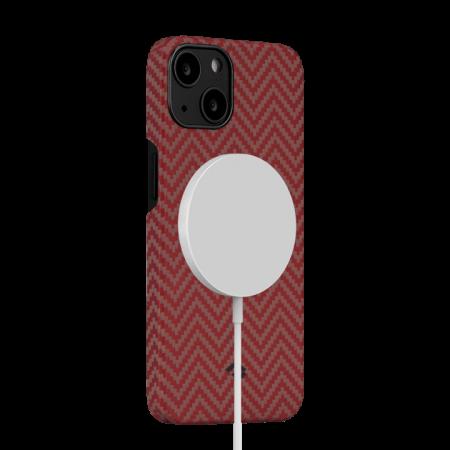 "Чехол Pitaka MagEZ Case 2 для iPhone 13 6.1"", оранжевый, кевлар (арамид)"