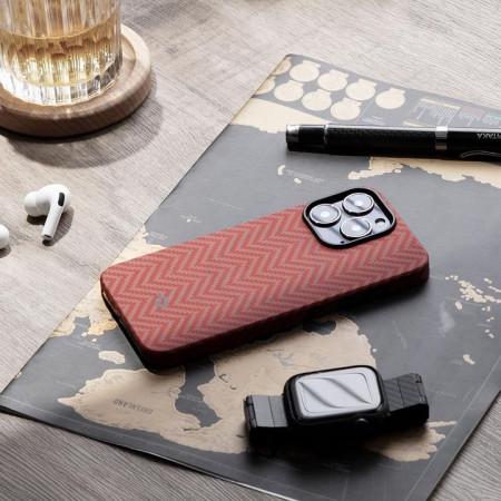 "Чехол Pitaka MagEZ Case 2 для iPhone 13 Pro 6.1"", оранжевый, кевлар (арамид)"