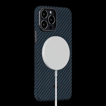 """Чехол Pitaka MagEZ Case 2 для iPhone 13 Pro Max 6.7"""", черно-синий, кевлар (арамид)"""