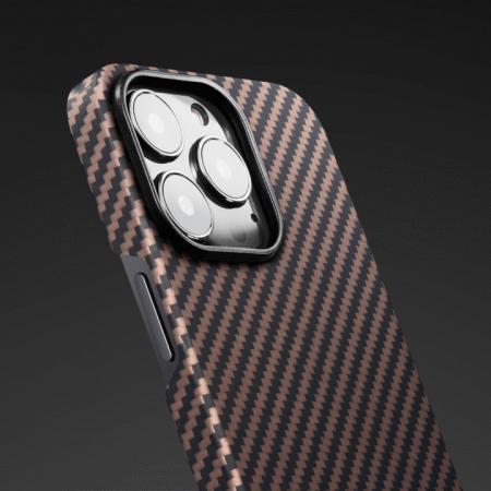 "Чехол Pitaka MagEZ Case 2 для iPhone 13 Pro Max 6.7"", черно-коричневый, кевлар (арамид)"