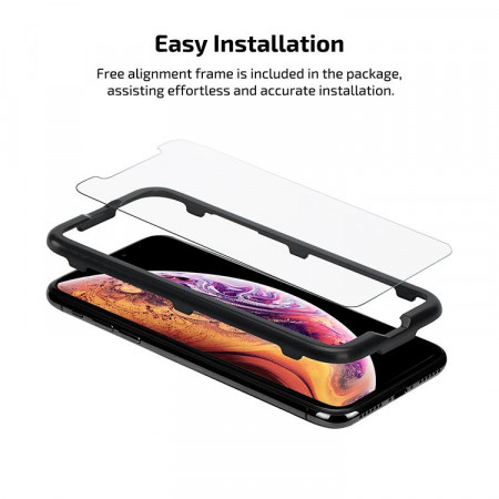 Защитное стекло Pitaka для iPhone Xs (2 стекла в комплекте)